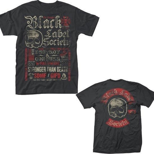 T-Shirt - Black Label Society - Destroy & Conquer-Metalomania