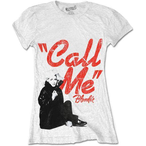 T-Shirt - Blondie - Call Me - Lady - White
