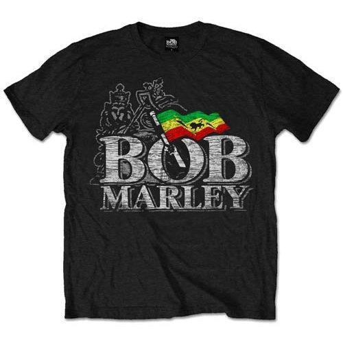 T-Shirt - Bob Marley - Distressed Logo