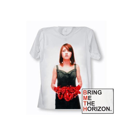 T-Shirt - Bring Me The Horizon - Suicide Season (red letters) - White-Metalomania
