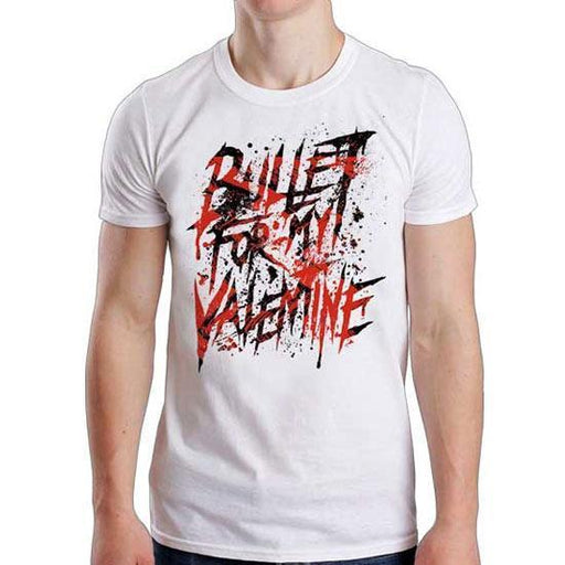 T-Shirt - Bullet For My Valentine - Splattered Logo - White
