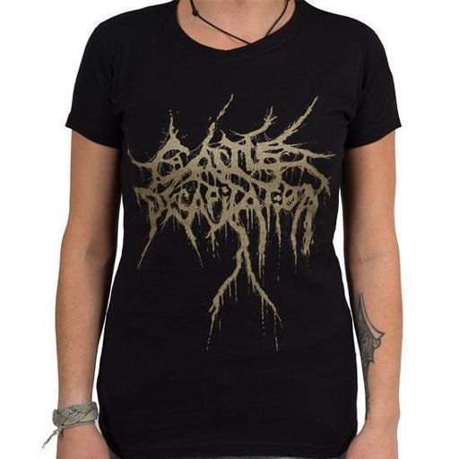 T-Shirt - Cattle Decapitation - Gold Logo - Lady