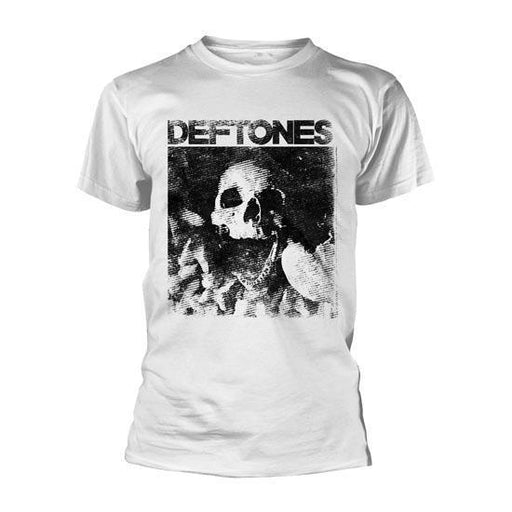 T-Shirt - Deftones - Skull - White-Metalomania