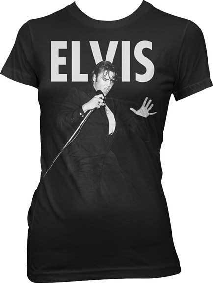 T-Shirt - Elvis - On Stage With Mic - Lady-Metalomania