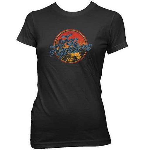 T-Shirt - Foo Fighters - Circle Palm Tree - Lady