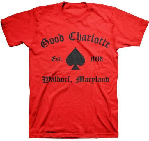T-Shirt - Good Charlotte - Spade - Red-Metalomania