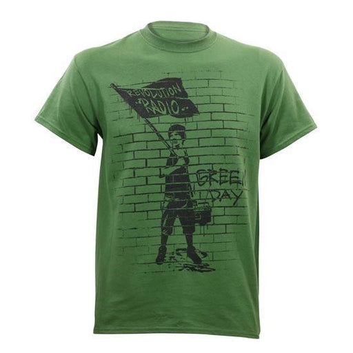 T-Shirt - Green Day - Flag Boy - Green