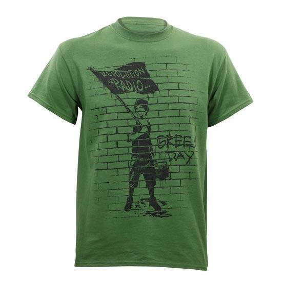 T-Shirt - Green Day - Flag Boy - Green-Metalomania