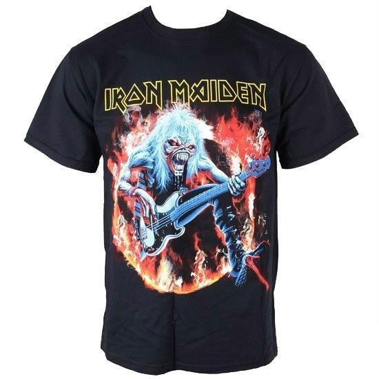 T-Shirt - Iron Maiden - Fear Live Flames-Metalomania