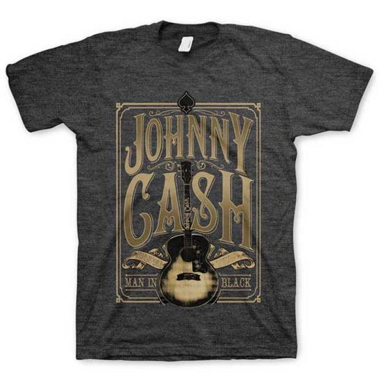 T-Shirt - Johnny Cash - Signature Guitar - Man in Black-Metalomania