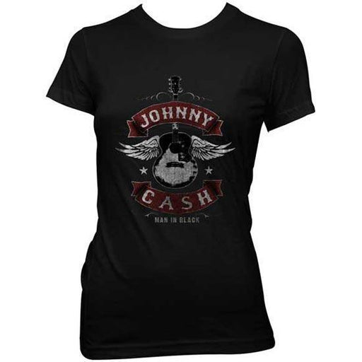 T-Shirt - Johnny Cash - Winged Guitar - Lady