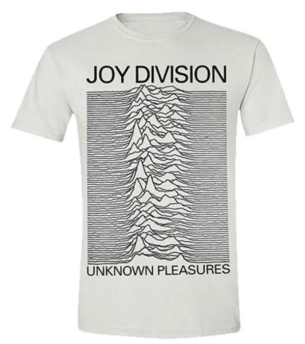 T-Shirt - Joy Division - Unknown Pleasures - White-Metalomania
