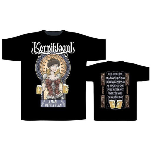 T-Shirt - Korpiklaani - A Man With A Plan