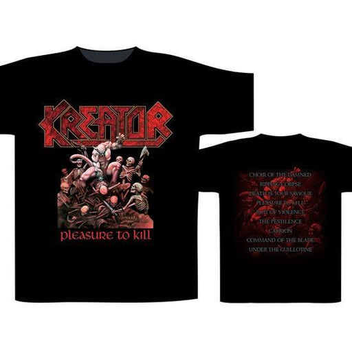 T-Shirt - Kreator - Pleasure to Kill W/Back-Metalomania