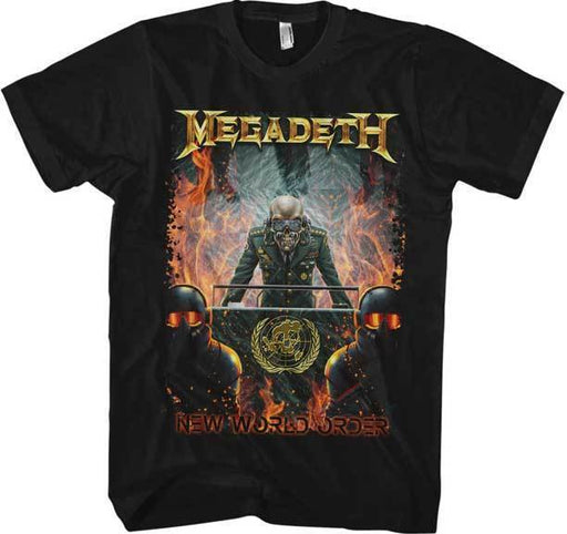 T-Shirt - Megadeth - New World Order-Metalomania