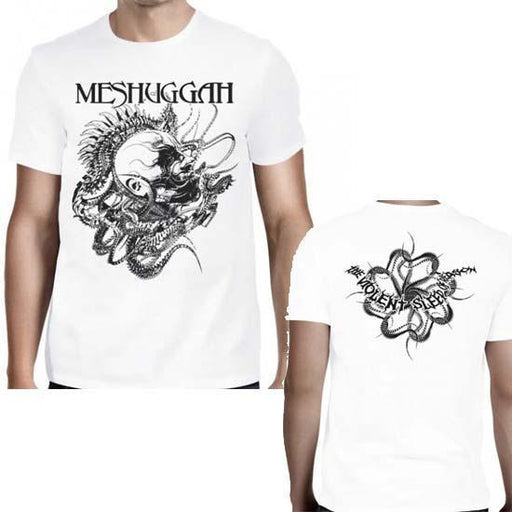 T-Shirt - Meshuggah - Spine Head - White-Metalomania