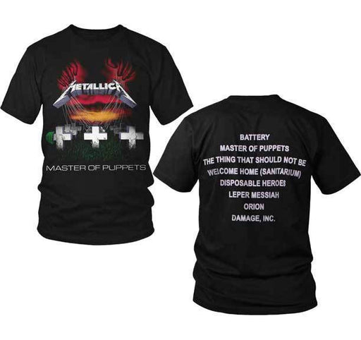T-Shirt - Metallica - Master of Puppets - With Back Print