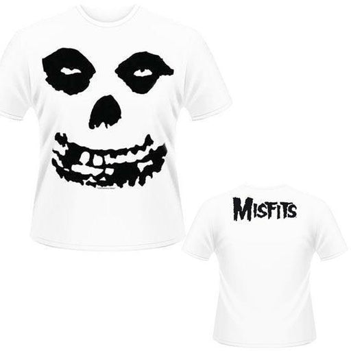 T-Shirt - Misfits - All Over Skull (white)-Metalomania