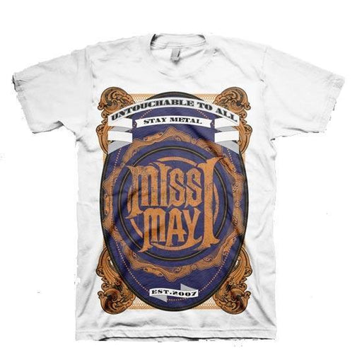 T-Shirt - Miss May I - Metal Crest - White