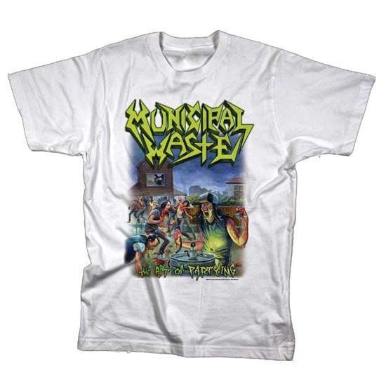T-Shirt - Municipal Waste - Art of Partying - White-Metalomania