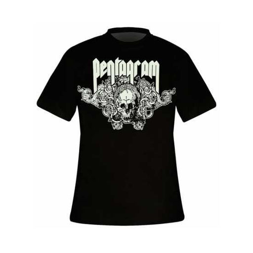 T-Shirt - Pentagram - Skull-Metalomania