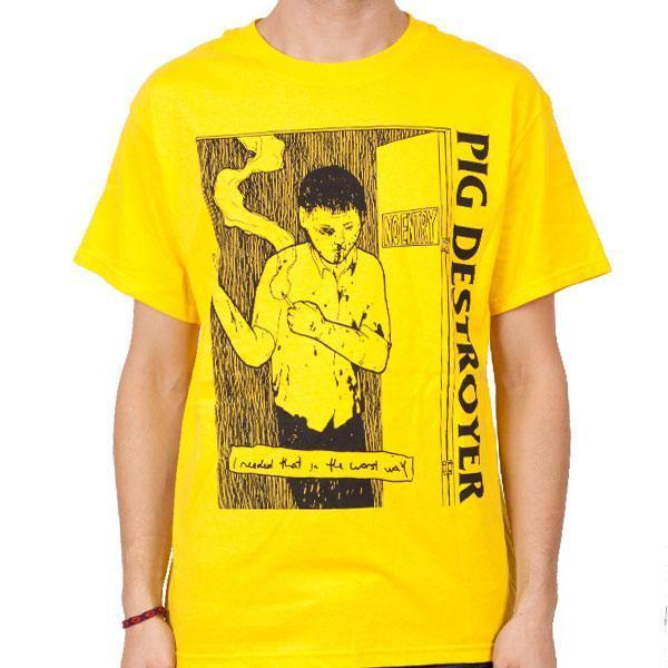 T-Shirt - Pig Destroyer - I Needed That - Yellow-Metalomania
