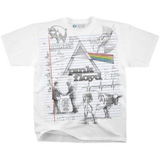 T-Shirt - Pink Floyd - Sketch (white)
