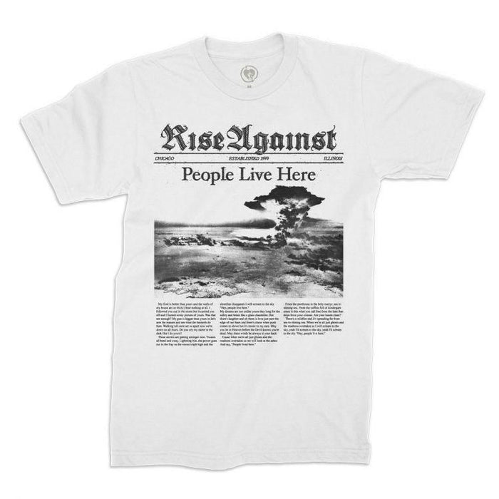 T-Shirt - Rise Against - People Live Here - White-Metalomania