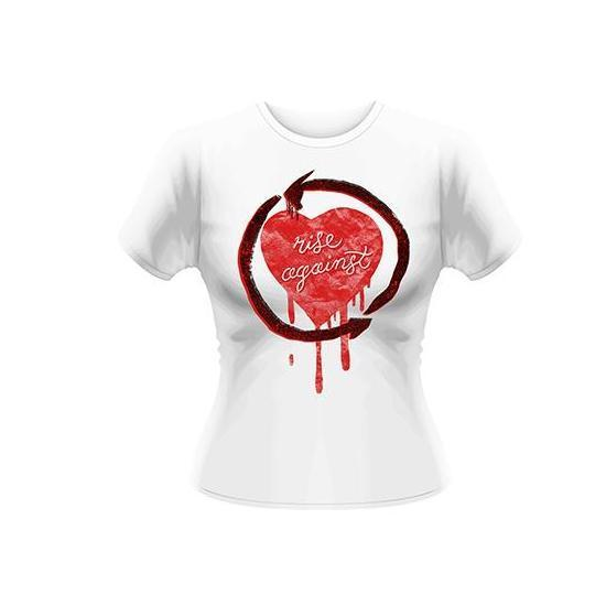 T-Shirt - Rise Against - Rough Heart (white) (lady)-Metalomania