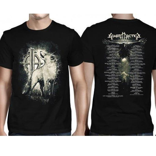 T-Shirt - Sonata Arctica - White Wolf Tour Dates-Metalomania