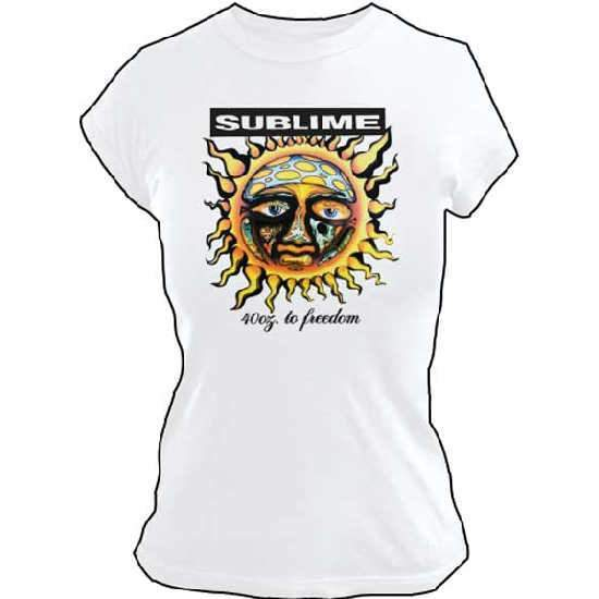 T-Shirt - Sublime - 40 Ooz. Sun (white) LADY-Metalomania