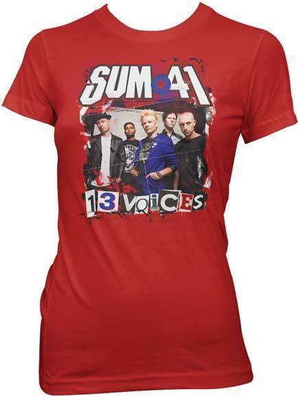 T-Shirt - Sum 41 - 13 Voices - Red - Lady