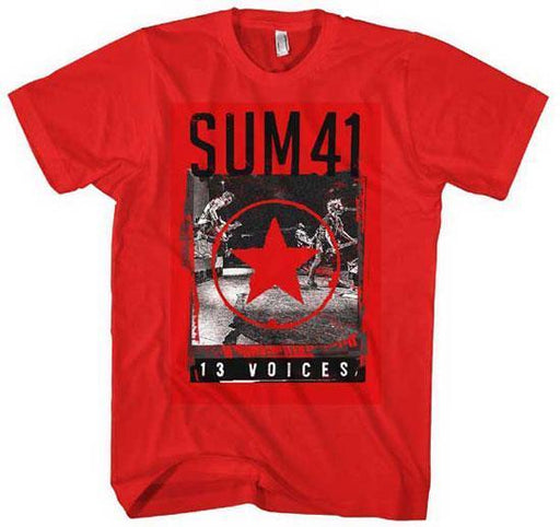 T-Shirt - Sum 41 - Star 13 Voices - Red-Metalomania