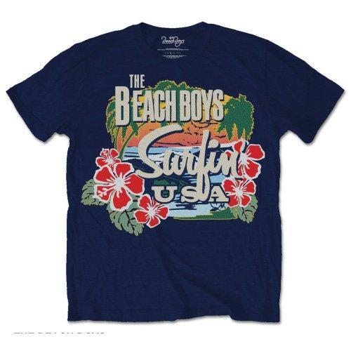 T-Shirt - The Beach Boys - Surfin USA Tropical - Navy