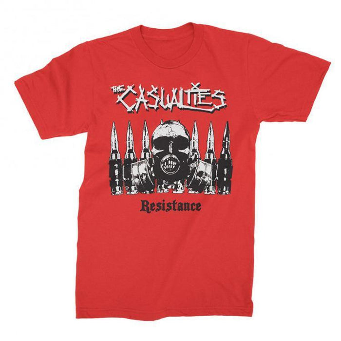 T-Shirt - The Casualties - Resistance - Red-Metalomania