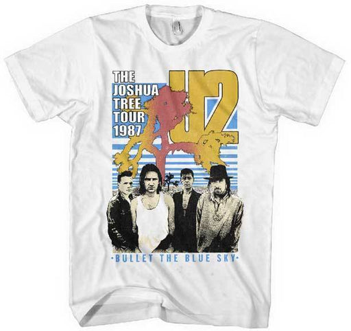 T-Shirt - U2 - Bullet the Blue Sky - White-Metalomania