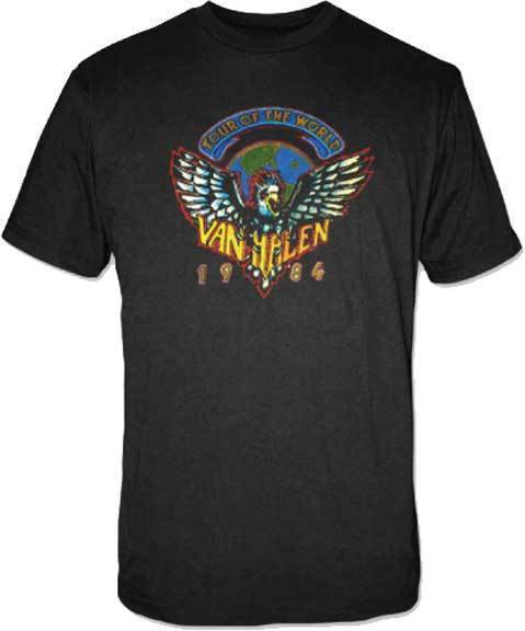 T-Shirt - Van Halen - Tour of the World 1984-Metalomania