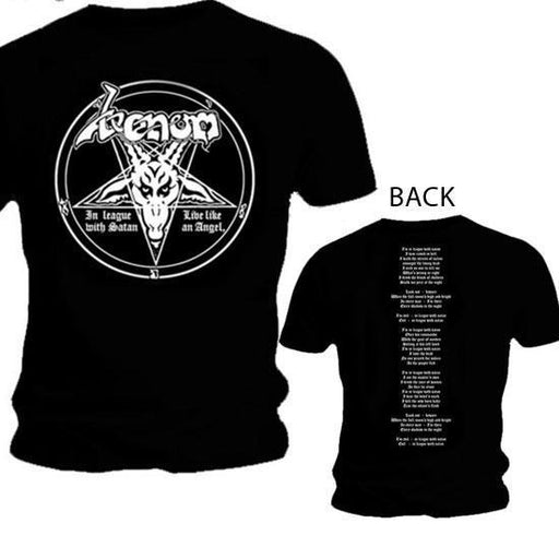 T-Shirt - Venom - In League with Satan