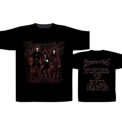 T-Shirts - Immortal - Damned in Black