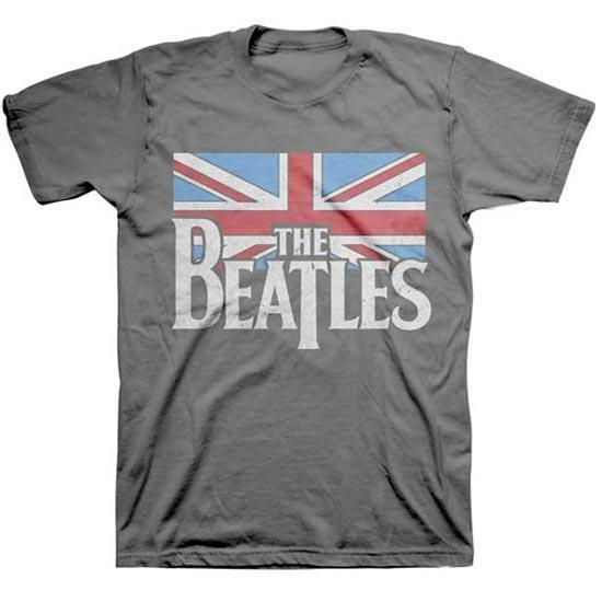 T-Shirt - The Beatles - Distressed UK Flag-Metalomania