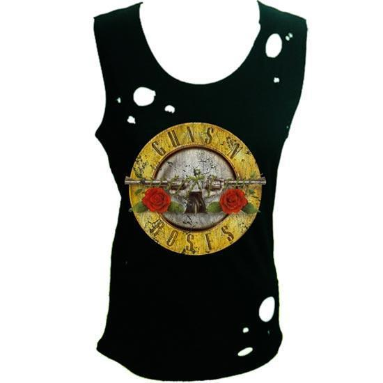 Tank Top - Guns N Roses - Fashion Style Logo (lady)-Metalomania