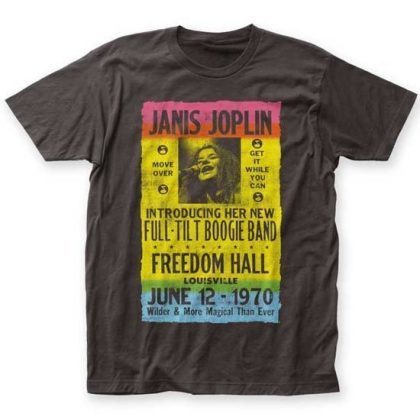 T-Shirt - Janis Joplin - Freedom Hall Poster