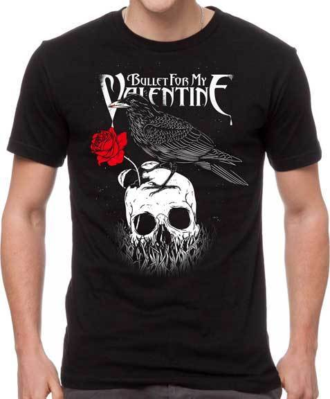 T-Shirt - Bullet For My Valentine - Raven Skull