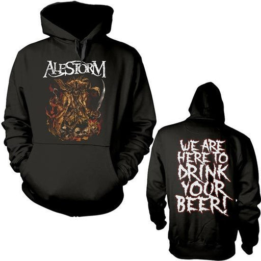 Hoodie - Alestorm - Here to Drink Your Beer-Metalomania