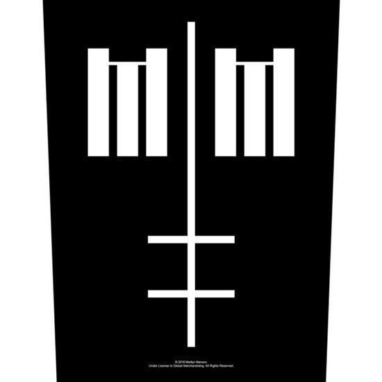 Back Patch - Marilyn Manson - Inverted Cross Logo-Metalomania
