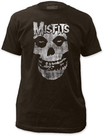 T-Shirt - Misfits - Distressed Skull-Metalomania