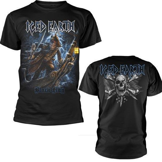 T-Shirt - Iced Earth - Black Flag-Metalomania