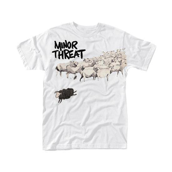 T-Shirt - Minor Threat - Out of Step - White-Metalomania
