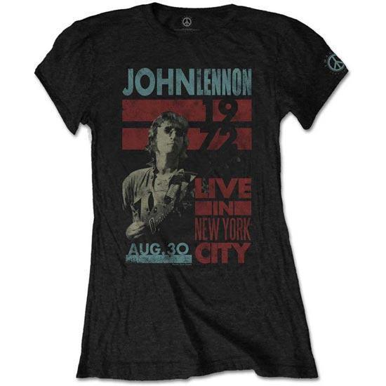 T-Shirt - Beatles - John Lennon - Live in NYC - Lady-Metalomania