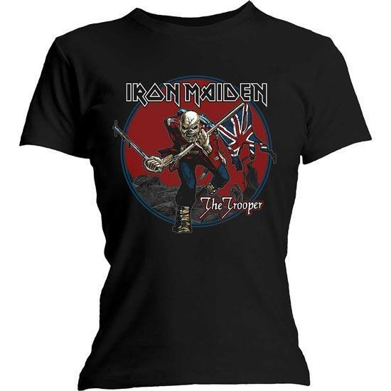 T-Shirt - Iron Maiden - Trooper Red Sky - Lady-Metalomania